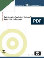 Optimize Siebel Testing
