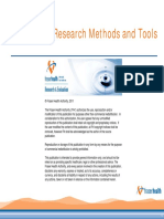 2011 11 14 Quantitative Research Methods and Tools