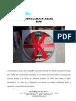Ventilador Axial Modelo Mpf
