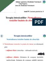 LP 6 - Terapia Intoxicatiilor ( Neutralizarea Toxicilor Inainte de Absorbtie)