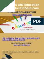 CIS 115 AID Education Expert/Cis115aid.com