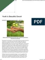 Youth is Beautiful Deceit _ Warrior Athlete Philosopher