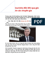 Sự Kiện Mourinho Đến MU Qua Góc Nhìn Các Chuyên Gia