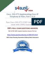 Pass4sure 300-075 Study