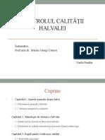 Controlul Calitatii Halvalei