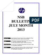 Nsb Bulletin July 2013