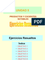UNIDAD 5 Productos Notables Resueltos