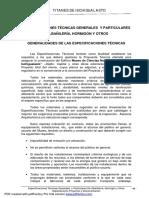 02 - Espesificaciones de Albañileria y Hormigon y Otros