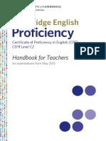 Cpe Hanbook for Teachers