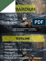 Vanadium, Bahan Galian Indonesia