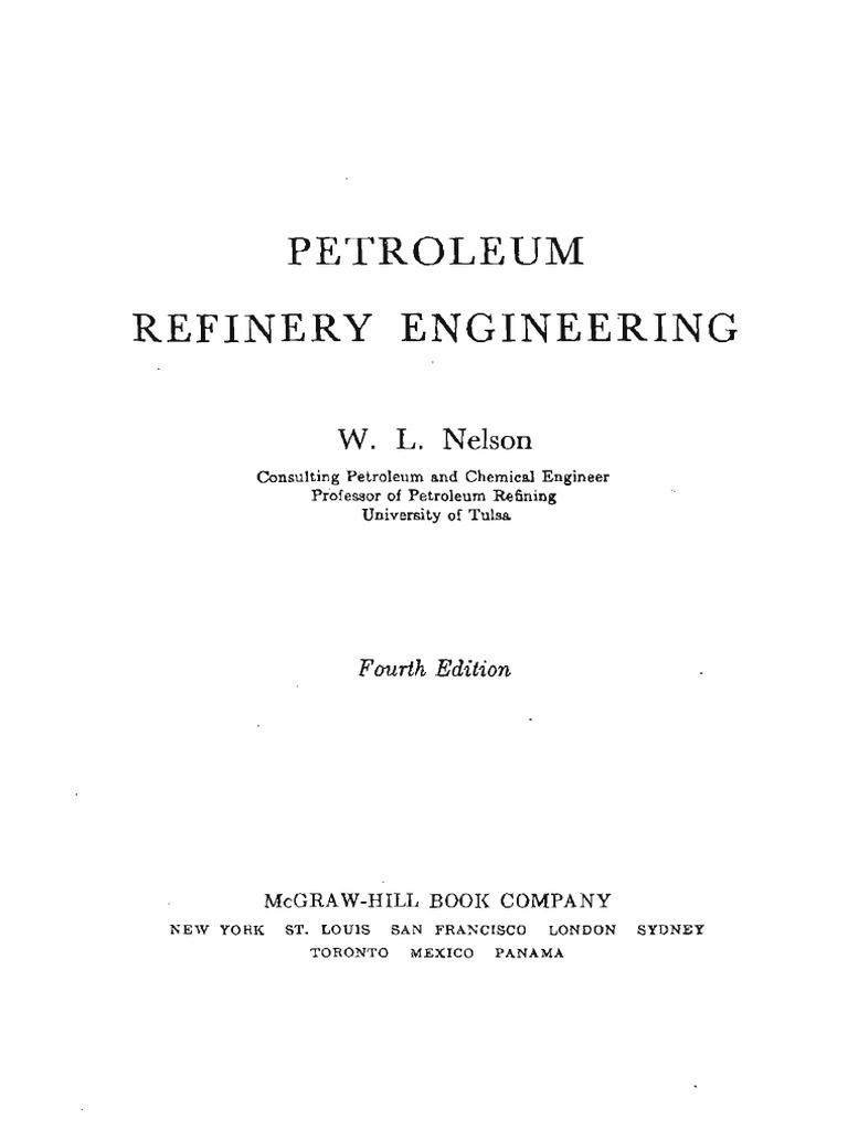 Petroleumrefineryengineeringwlnelson 4thedition Smallsize Oil Ignition Circuit Diagram For The 1949 54 Nash All Models Refinery Cracking Chemistry