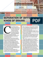 Separation of different kinds of grains
