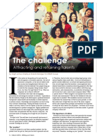 The challenge - Attracting and retaining talents