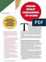 DURUM WHEAT DEBRANNING - BY OCRIM