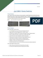 Cisco Catalyst 2960X Data Sheet