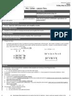 Binomial Lesson Plan