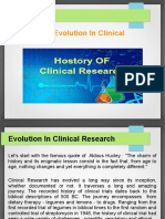 History and Evolution of Clinical Research