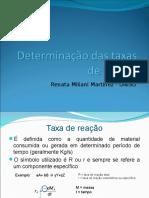 Determinacao das taxas de reacao 13 04.ppt