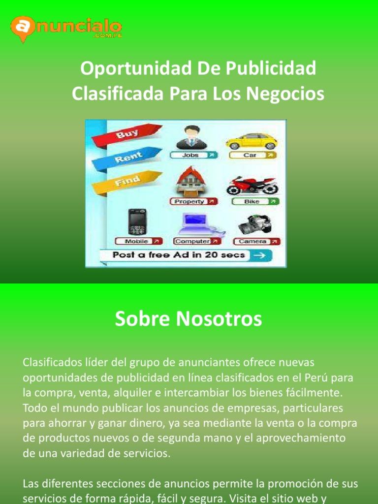 Obtener Exposición Rápida de Su Anuncio en Perú
