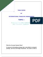 managing economic explosure & translational explosure