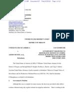 05-25-2016 ECF 607 USA v A BUNDY et al - USA Opposition to Surveillance Discovery Motion