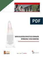 EXPERTO EN GESTIÓN DE PROYECTOS DE COOPERACIÓN INTERNACIONAL Y AYUDA HUMANITARIA