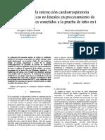 Análisis de la interacción cardiorrespiratoria utilizando técnicas no lineales en procesamiento de datos en pacientes sometidos a la prueba de tubo en t