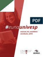Manual Do Candidato Vestibular 2016
