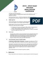 North Capitol Main Street Grant Application 2015 - 2016