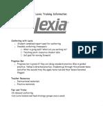 lexia training information