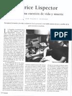 Clarice Lispector - Escribir Una Cuestión de Vida y Muerte - Por Valeria Iglesias