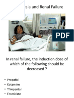 Anesthesia and Renal Failure - Ahmad Hatoum