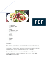 Ingredientes para solterito de queso