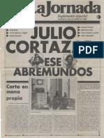 01. La Jornada, Suplemento Especial a Julio Cortázar