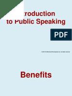 1 Intro to Public Speaking