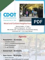 Wood and Cortland Street Neighborhood Greenways