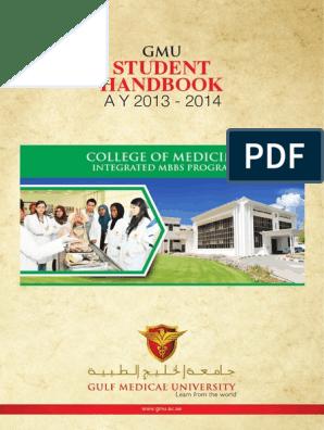 Handbook MBBS 2013 2014 | University And College Admission
