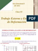 CLASE 3ra Trabajo Externo y Energía de Deformación