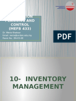 CHAPTER 10 - Inventory Management