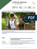 Boletín de noticias KLR 26MAY2016