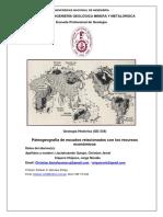 Informe N04 de Geología Histórica - Ciquero Chipoco, Jorge - Llactahuaman Quispe, Christian -Paleogeografía de Escudos