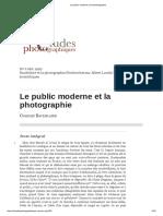 Le Public Moderne Et La Photographie