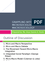 Grappling With Microsociology and Macrosociology