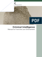 Criminal Intelligence for Front Line Law Enforcement