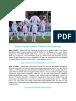 Taruhan Bola - Madrid Siap Menerima Kekalahan