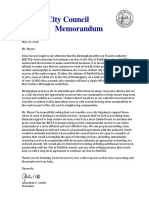 Transportation Letter to Mayor