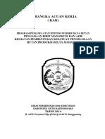 KAK Dan Spesifikasi Mangrove KPH Delta 2014