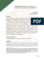 Nova Hermeneutica Contratual o Papel Da Scláusulas Gerais No Direito Contratial Brasileiro