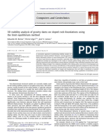 3D Stability Analysis of Gravity Dams on Sloped Rock Foundations Using the Limit Equilibrium Method