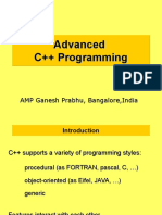 Advance C++